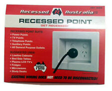 All Australian - Recessed Power Point -  Wall Power Point -  White x 2