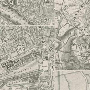 "London Map Gift Wrap Roll - 5 Feet x 30"""