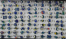 Wholesale mixed Lots assorted 100pcs Change Color With Mood Cards rings EH116