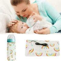 Tragbare flaschenwärmer heizung reise baby kinder milch wasser abdeckung be L9Q3