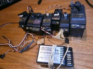 6 servos, 1 large servo and  7 ch. receiver