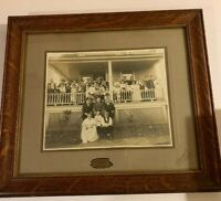 Vintage Early 1900s Antique  Photograph Antique Family Holyoke MA Oak Wood Glass