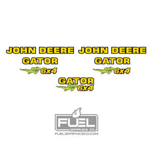 John Deere Gator 6x4 Utility Vehicle Premium Decal Set - Made in the USA