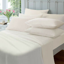 Jenny McLean 100 Egyptian Cotton 175gsm Flannelette Sheet Set All Sizes Queen Ivory