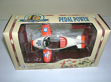 "Golden Wheel Die Cast Metal Pedal Power Airplane 4"" long w/ COA & BOX"