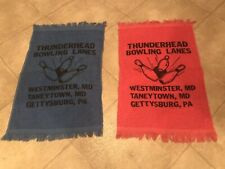 Vintage Thunderhead Bowling Towels -Set Of 2 - Includes FAIR LANES Change Purse