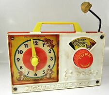 1971 Fisher-Price Radio Clock Hickory Dickory Dock  #107 - Working Condition