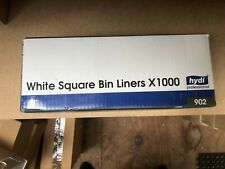 1000 Square White Bin Dustbin Liners Waste Rubbish Office Paper Trash Bags Bulk