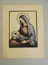 Holzschnitt (37x29 cm) um 1920 / vom Vater von Eva-Maria Buch (WALTER BUCH). RAR