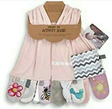 Demdaco Mommy & Me Activity Scarf Pink Baby Shower Gift Child nwt