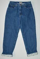 LL Bean Flannel Lined Denim Blue Jeans Sz 14 Reg Warm Cotton Women 33x29