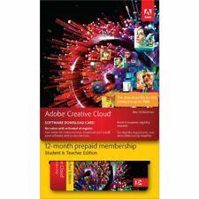 Adobe Creative Cloud Education Edition 12 Month Card