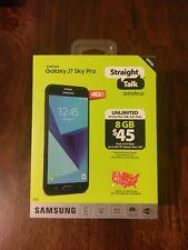 Samsung Galaxy J7 Sky Pro 4G LTE 16GB Black Smartphone Straight Talk PrePaid NIB