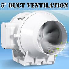 "Inline Duct Fan Exhaust Intake Air Blower 5"" Exhaust Blower HIGH CFM"