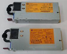 Lot of 2 HP 750W Proliant DL380p DL385p Gen 8 Power Supply 660183-001