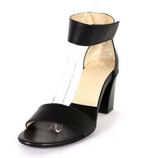 CHLOE $630 Black Leather Ankle Strap High-Heel Sandals 38