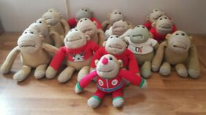 14x PG Tips Knitted Monkey Soft Toys Joblot Dressing Gown Red Nose Day Stick On