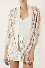 Topshop Embroidered Floral Kimono SIZE UK10 EUR38 US6
