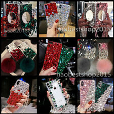 Bling Crystals Rhinestone Diamonds back soft Phone cover Case for Sony & lanyard