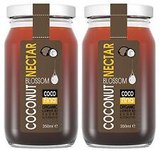 2 X Organic coconut blossom nectar sugar syrup sweetener 350ML unrefined