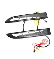 Carbon Fender Air Outlet LED Decorative Lights for Jaguar XE XF XFS F-PACE 15-19