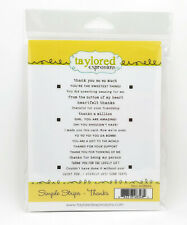 Taylored Expressions Simple Strips Thanks Stamp Set New Unopened