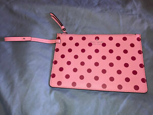 NWOT Kate Spade New York Arch Pink Lovebird Pouch *ONLY*