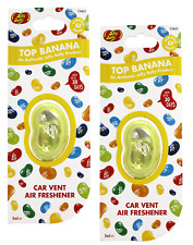 2 X Jelly Belly TOP BANANA Car Air Vent Clip Air Fresheners *FAST UK DISPATCH*