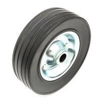 Heavy Duty Steel Wheel & Solid Rubber Tyre 200mm / 8 Inch Trailer Jockey Wheel