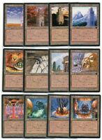 MTG Japanese Complete Urza's Land Set 12 Lands Tower, Power Plant, Mine FBB NM-