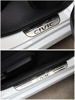 Stainless steel Door Sill Scuff Plate Guard Cover For Honda Civic 10th 2016-2019