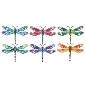 Shudehill Small Metal Dragonfly Garden Wall Art Ornament - choice of colours