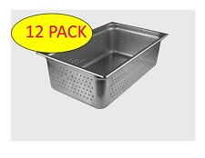 StarkCook 12 PACK Steam Table Pan, Full Size, Stainless Steel, STPF246P