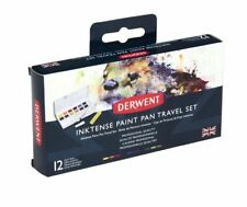 Derwent Inktense Professional Permanent Watercolour Paint Pan Travel Set