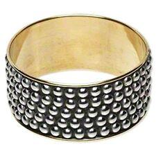Punk Rock Chick Stud Pattern Brass Steel Bangle Bracelet