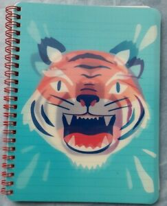 Tiger Hologram Exercise Book a5 lined paper blue cover with tiger brand new
