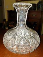 Antique American Cut Glass Carafe Brilliant Period ABP