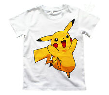 UK SELLER Pokemon Go Boys Girls Unisex Kids 100% Cotton T Shirt Pikachu 4-11Y