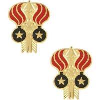 USA Army Unit Crest DUI 332nd Ordnance Battalion 1-PAIR     NEW