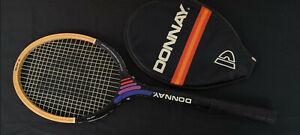Antigua raqueta de madera donnay con su funda años 70 VINTAGE