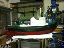TUG BOAT 1 20th Scale FRAMEKIT Build Modelling MODEL PLANS