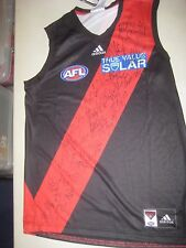 Essendon - Team signed official jersey - signed by all players + COA / Photos