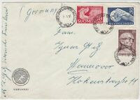 Finland 1957 Vierumaki multiple cancels 3x varied Stamps Cover FRONT Ref 25632