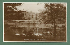 C1930'S RP PC ASTLEY HALL & LAKE, CHORLEY - LOCAL PUBLISHER
