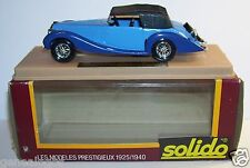 AGE D'OR SOLIDO OLD DELAHAYE 135M 1939 FIGONI FALASCHI BICOLORE BLEU 1/43 IN BOX