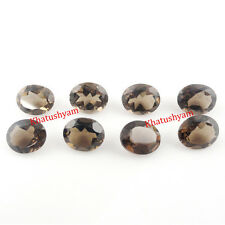 AAA Quality 25 Pieces Natural Smoky Quartz 6x8 MM Oval Cut Loose Gemstone