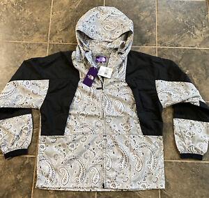 NWT Mens The North Face Purple Label Paisley Print Mountain Windbreaker Jacket L
