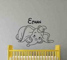 Personalized Name Dumbo Disney Wall Decal Decor Custom Vinyl Sticker Poster 717