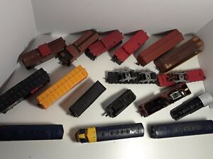 Vintage Miniature Locomotives Trains Parts Lot HO Scale
