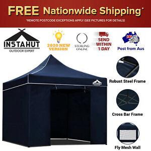 3x3m Tent Heavy Duty Gazebo Instahut Portable Outdoor Camping Ground Canopy Navy